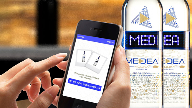 This Vodka Brand's App Uses Beacons to Light Up Bottles With Custom Messages