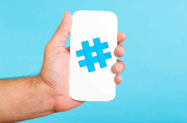 the history of hashtags in social media marketing infographic adweek