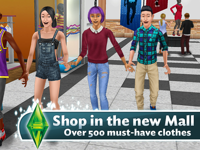 The Sims Freeplay Build The Mall To Unlock New Clothing For Sims
