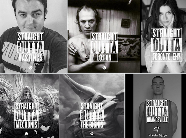 how brands got in on the straightoutta meme you saw all over social
