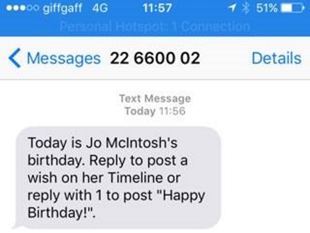 facebook continues to test different ways to alert users about their friends birthdays