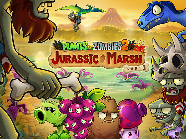 Plants vs  Zombies 2 Updated With Jurassic Marsh Part One