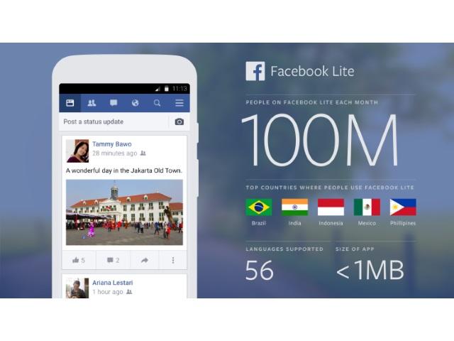 free facebook lite login
