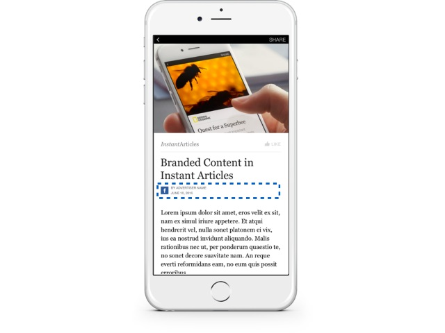 Facebook Adds More Tools for Branded Content in Instant Articles
