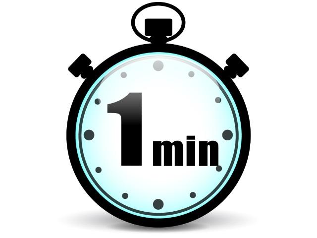 One minute to cum