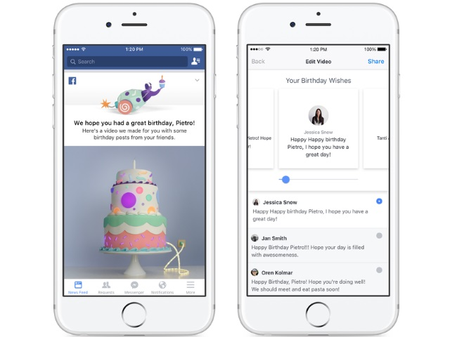 Facebook Plans To Begin Sending Its Users Birthday Wishes In The Form Of 45 Second Videos Featuring Recaps Their Friends Greeting Posts