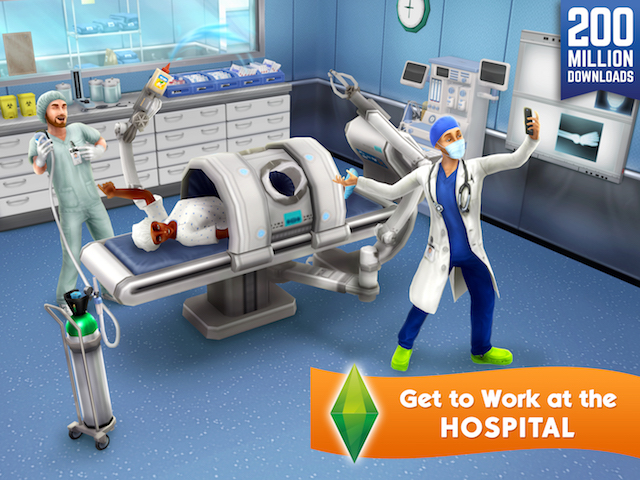 The Sims Freeplay Updated With Doctor Profession Downtown Map Adweek