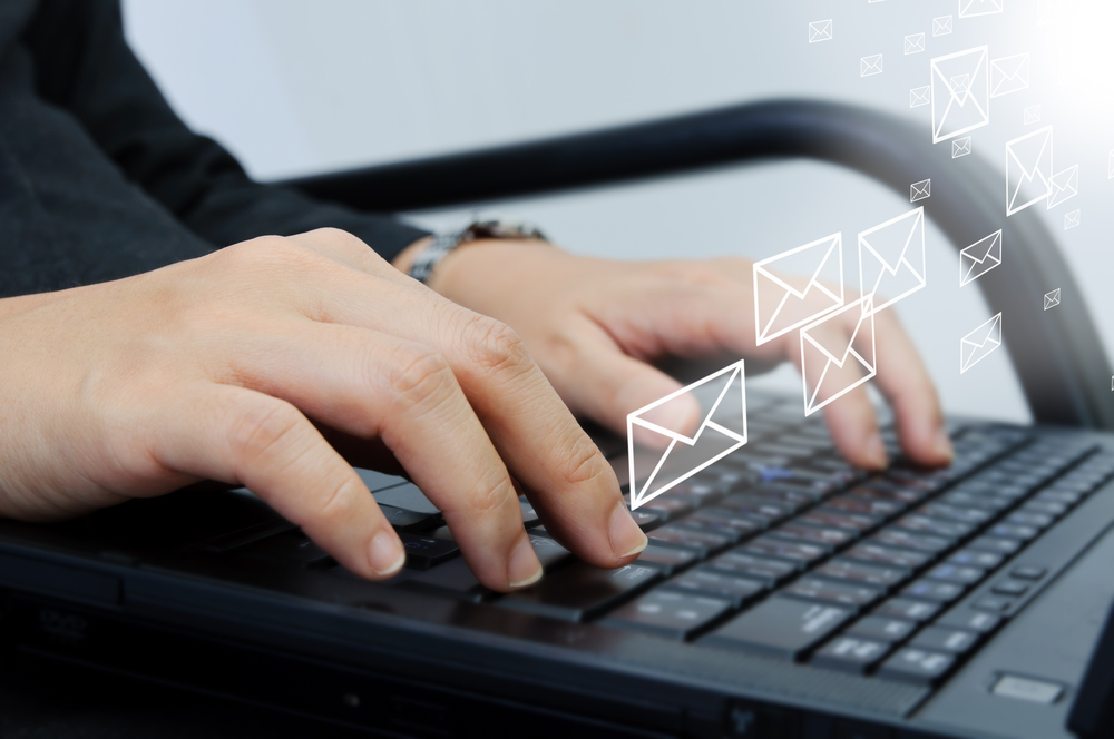 write an email to someone