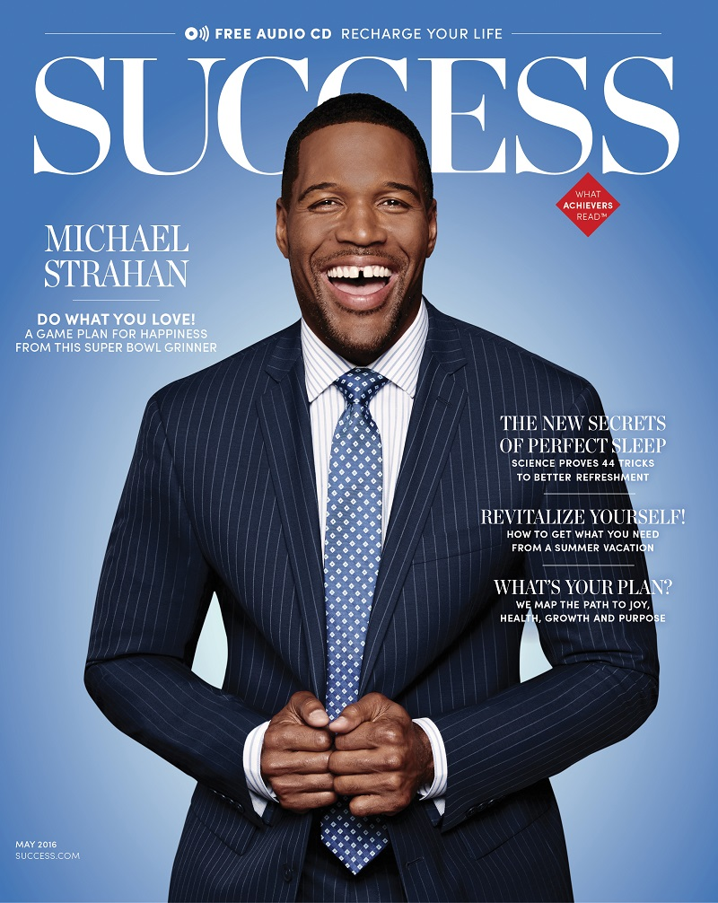 Michael Strahan Squares Up May Issue Of Success Magazine Adweek