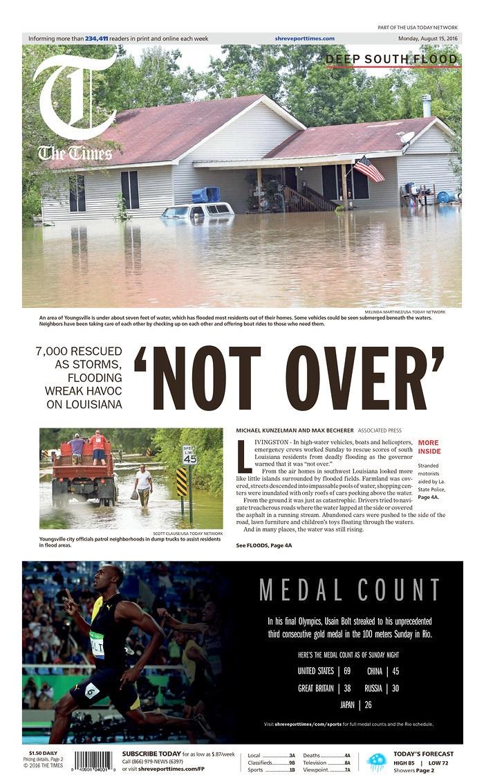 Epic Flooding Engenders Epic Headlines – Adweek