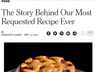 An unlikely new york times recipe champ adweek when the new york times announced in the fall of 1989 that it was going to stop its annual reprinting of food writer marian burros recipe for purple plum forumfinder Choice Image