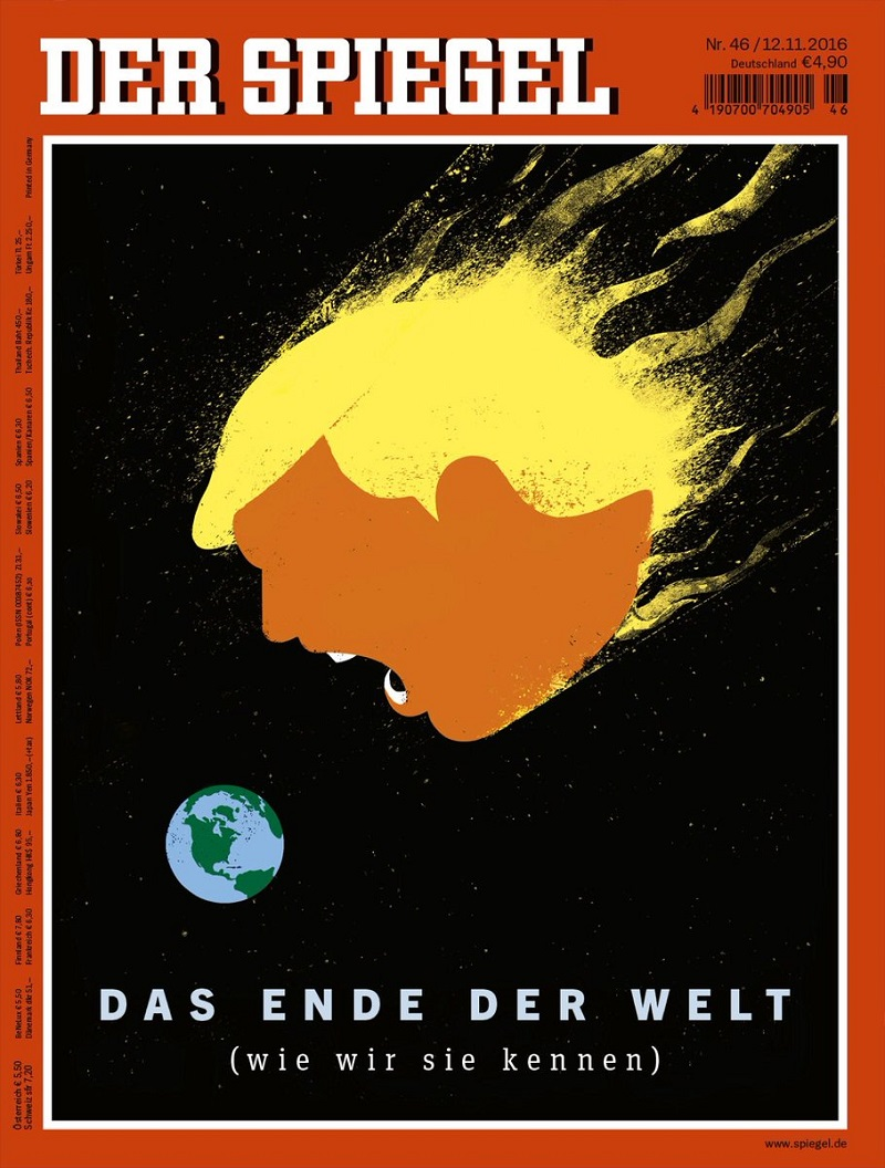 Der Spiegel Opts For Cosmic Trump Cover Adweek